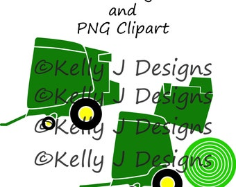 Hay Baler DXF Cutting File and PNG Clipart File