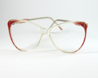 Vintage Eyeglasses, 60s, Elio Capucino, Eyeglasses for Women, Oversized Sunglasses, Mom Gifts, Womens Sunglasses, Clear Transparent, 1960s