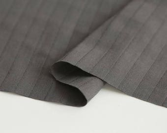 Charcoal Double Cotton Gauze Fabric by Yard