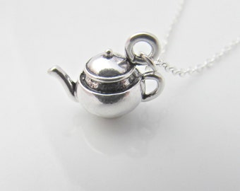 Teapot Necklace, Silver Teapot Necklace, Gifts for Girls, Tea Lover Necklace, UK Seller, Gifts for Friends, Nice Cup of Tea, Mom Gifts, BFF