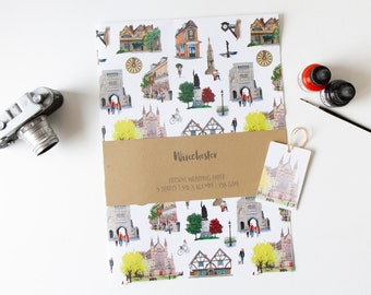 Illustrated Winchester - Gift Wrap/Wrapping Paper