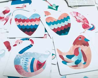Animal Hearts Matching Game