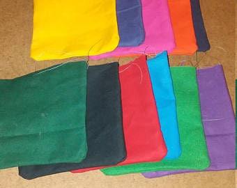 16 unfilled cornhole bags