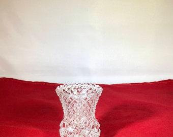 Vintage-Lead Crystal-Toothpick-Holder-1950's-Kitchen Decor-Home Decor