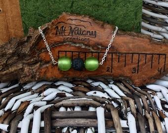 Bar bracelet, oil diffuser bracelet, essential oil bracelet, diffuser bracelet, lava bead bracelet, silver bar bracelet,