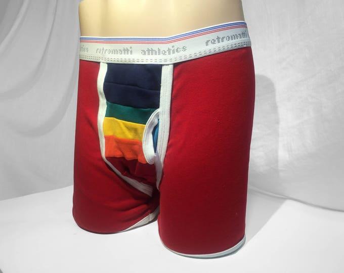 Retro rainbow boxers