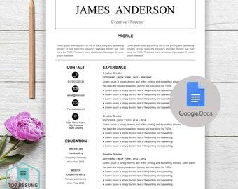 New Google Docs Resume, Google Docs Resume Template, Google Docs Template, Instant Download, CV, Resume Template Google Docs, Cover Letter
