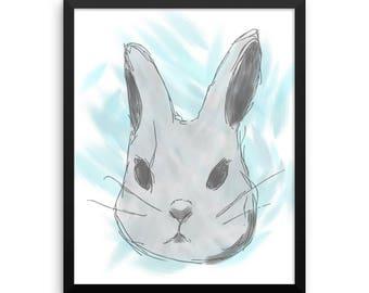 Blue Rabbit Triptych