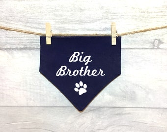 Big/Little Brother Sister Dog Bandana, Going to be a Big Brother/Sister Sibling, Baby Announcement News, Petkerchief