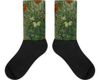 Vincent van Gogh, Butterflies and poppies - Socks