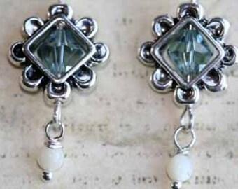 Seawater Dangle Earrings