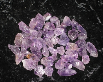 Two Small Raw Amethyst Crystal -  Grids, Healing, Meditation, Third eye, Crown Chakras, Psychic Development, High Vibration Energy