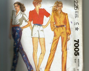 McCall's Misses' Blouse, Pants, or Shorts Pattern 7005