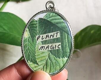 Plant Magic Resin Pendant