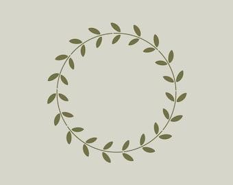 Crown stencil. Stencil (ref 637) laurel wreath