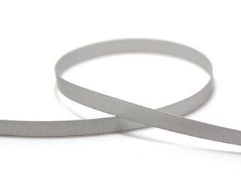 5 m of plain 7 mm, gray satin bias
