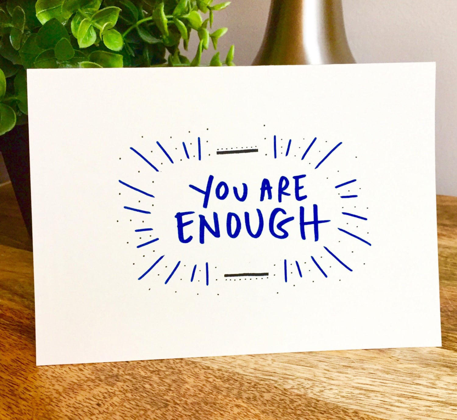 You are enough card motivational quotes encouragement card you 1 kristyandbryce Image collections