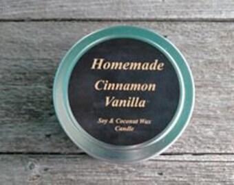 Cinnamon Vanilla Soy & Coconut Wax 4oz candles