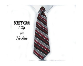strip tie - Clip tie,  clip on necktie, men's clip on tie, Men's tie,  70's tie    # T 18