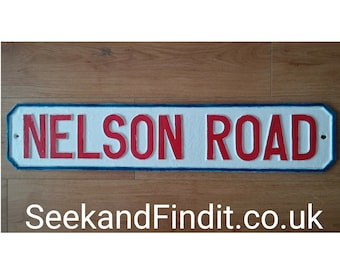 Nelson Road street sign