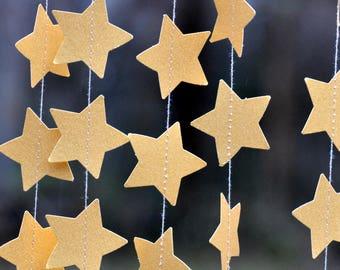Gold Star Garland 10 ft Wedding Christmas nursary paper gold garland twinkle Birthday Party Decor Baby Shower Bridal shower