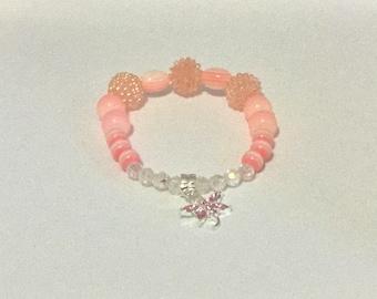 Pink Popcorn Stretch Bracelet