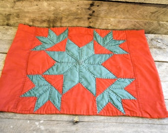 Mid Century Hand Quilted Place Mats