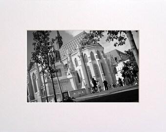 Matthias Church, BW Photo in 30x23 cm Mat Board, Wall Art, Home Decor, Limited Edition Photography