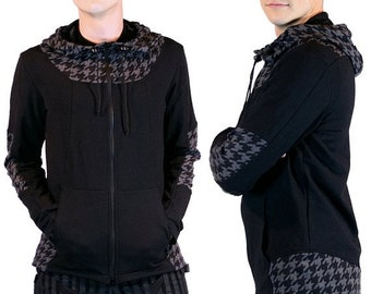 ON SALE Nomad, anime inspired cyberpunk hoodie with cowl by Plastik Wrap, all sizes available.