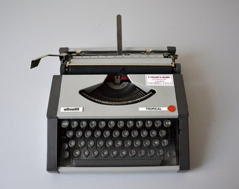 Vintage typewriter OLIVETTI TROPICAL / in perfect working condition