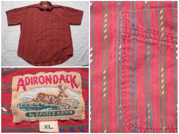 Vintage Retro Men's 90's Team Realtree Turkey Camo All Over Print Brown Tan Buttonup Short Sleeve Shirt XL uaYx3J