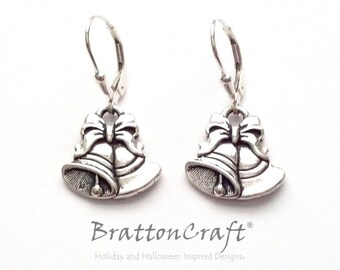 Silver Bells Earrings - Holiday Gifts - Holiday Earrings  - Christmas Earrings - Wedding Bells Earrings