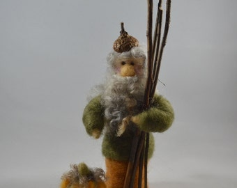 Gnome, Needle Felted Wool, Handmade