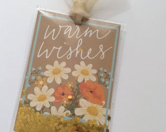 Seed Packet Style Shaker Tag-'Warm Wishes'