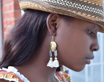 Tribal Mask Boho Earrings