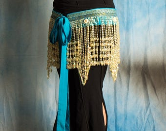 Tie Belt Iris on Turquoise