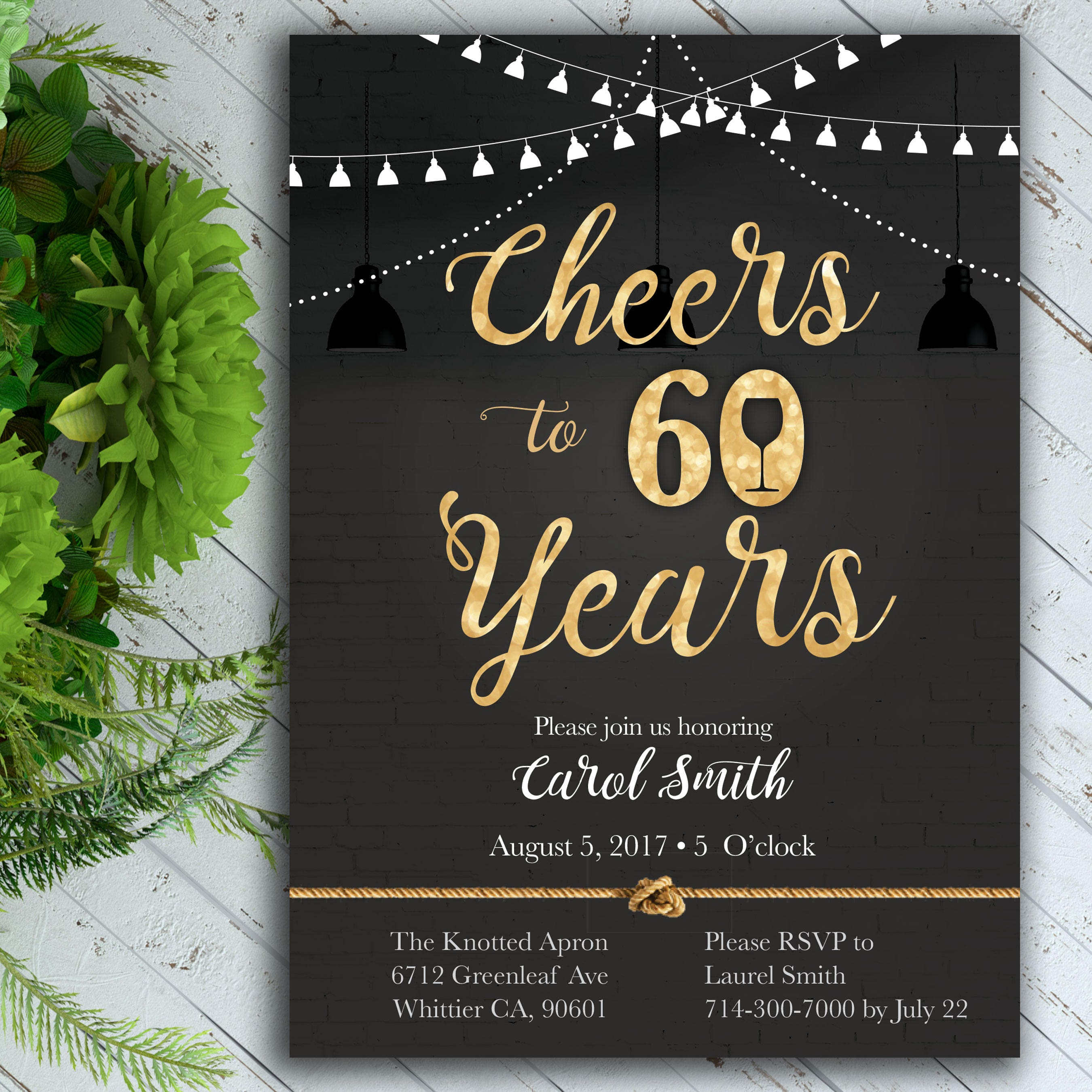 Cheers Birthday Invitation Classy Birthday Invitation 40th