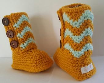 Chevron Uggie Booties for babies