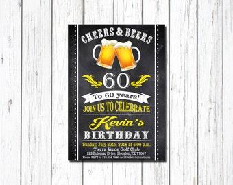 Beer Invitation, Surprise Birthday, Beer Birthday Invitation, Cheers And Beers Invitation, 50th Beer Party Invitation, Adult Birthday