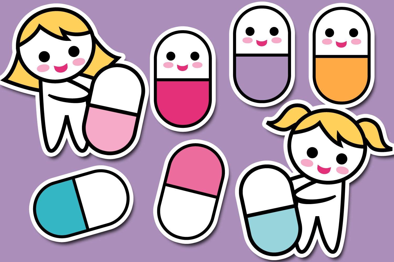 cute pill clipart medicine pill clip art commercial use rh etsy com pill clipart vector pill clipart vector
