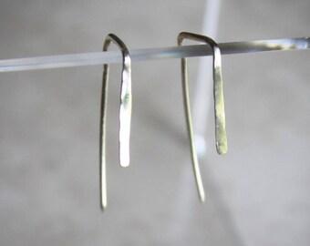 Silver Angle Earrings