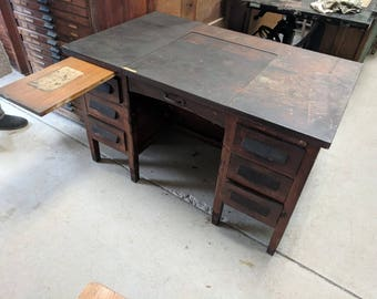 Oak Secretary's Desk