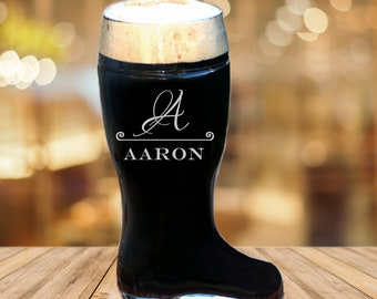 Fiance Engagement Gift, Personalized Beer Boot, Country Wedding, Custom Beer Glass, Husband To Be, Destination Wedding Gift, Boyfriend Mug