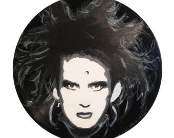 The Cure Robert Smith Vinyl Painting