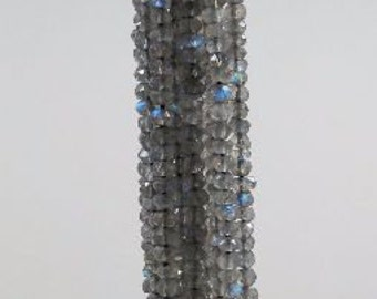 4mm Labradorite Faceted Rondelle Beads Strand 4mm