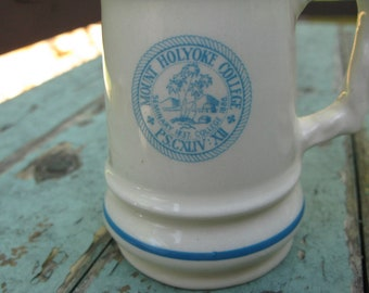 Rare Vintage Mt. Holyoke College Salt and Pepper Shakers