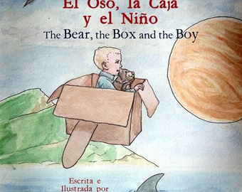 Spanish English Bilingual Children's Book Autographed, Personalized to Child, 1 dollar from each book donated to school of your choice!