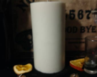 Soy Tall 6 x 3 in Pillar Candle - All Natural Nine Inch 20 oz Scentless Candle - Devotional Candle - Red Orange Yellow Green Blue - No Scent