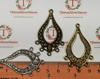 6 pcs per pack 48x25mm Chandelier Filigree Earring Component in color to choose Finish Lead free Pewter