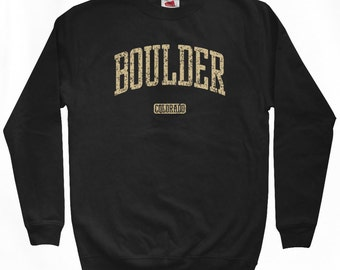 Boulder Colorado Sweatshirt - Men S M L XL 2x 3x - Crewneck - 4 Colors
